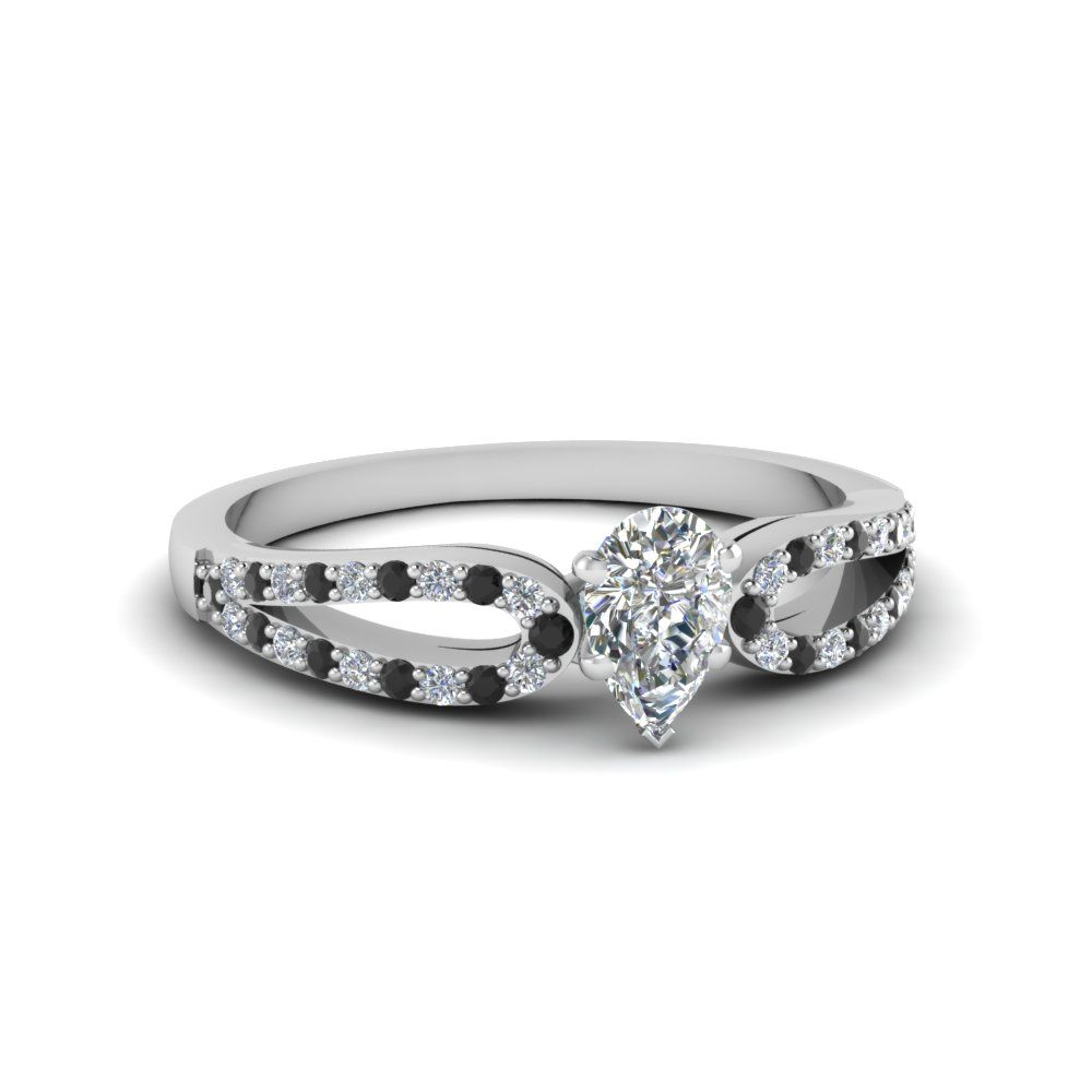 Affordable Black Diamond Engagement Ring