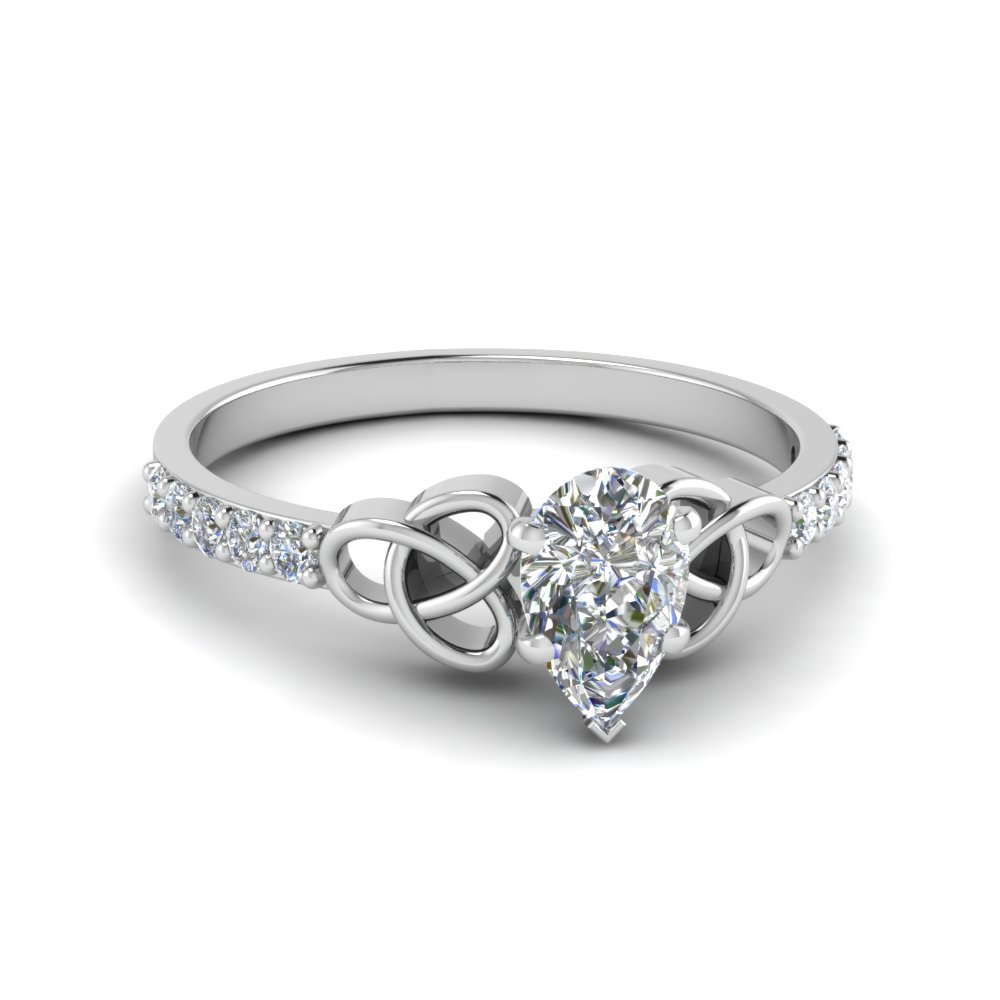 Celtic Design Pear Diamond Ring