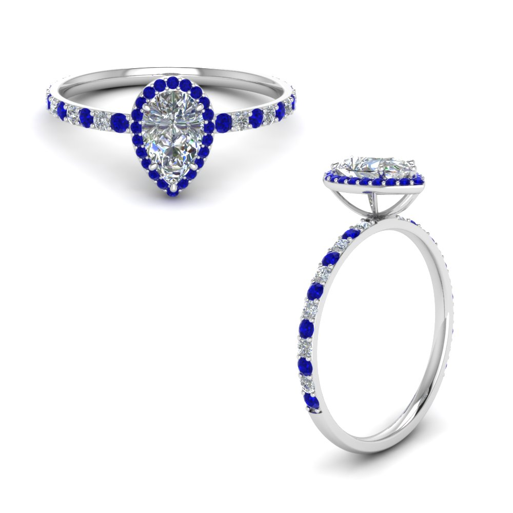 shape img shaped sapphire pear product blue