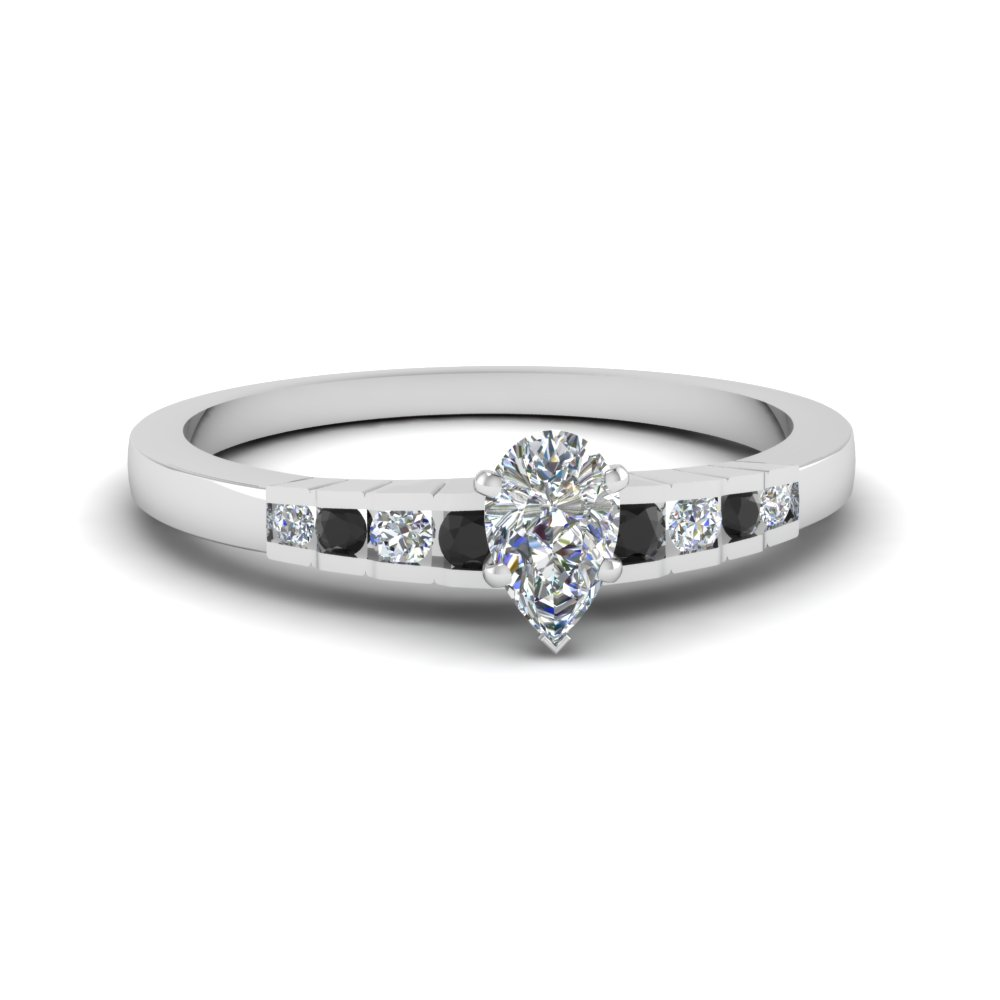 White Gold Marquise Discounted Diamond Ring With Blue Sapphire In 14K White G