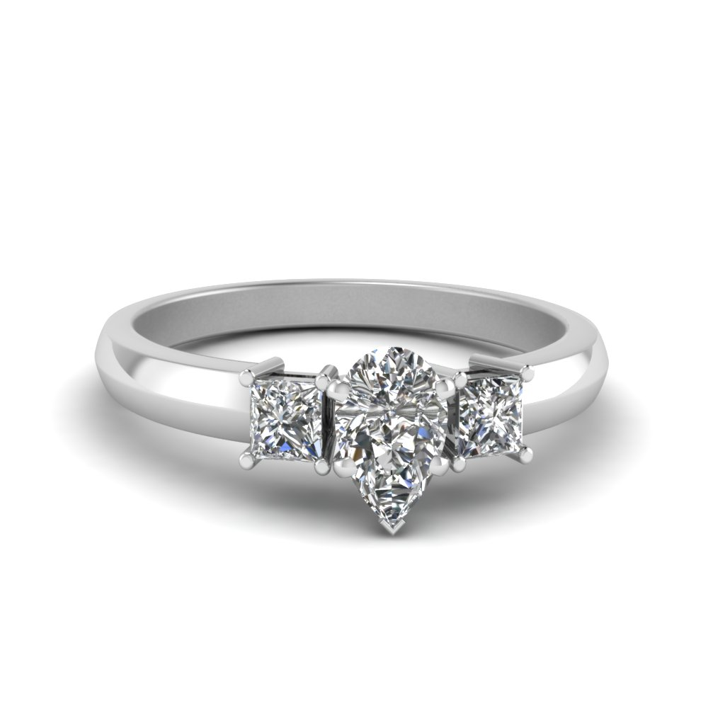 Pear Shaped Glossy Basket Diamond Ring