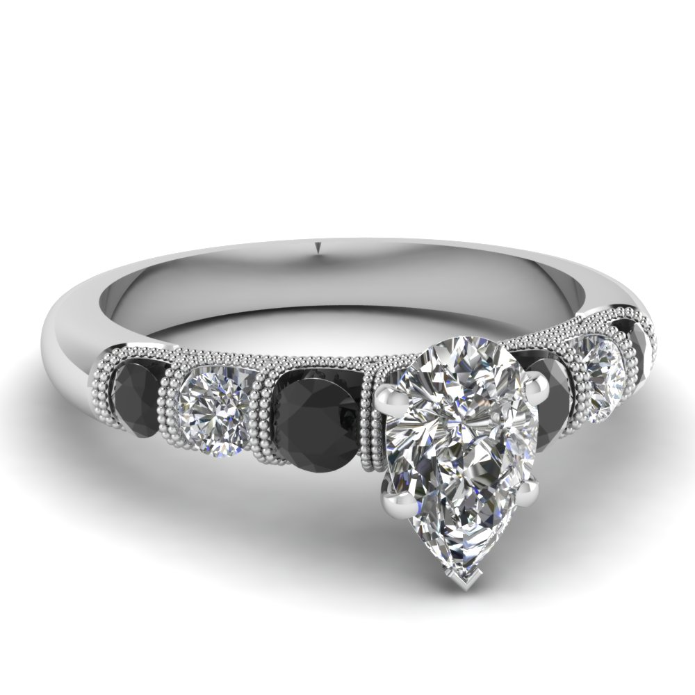Black Diamond Vintage Engagement Rings