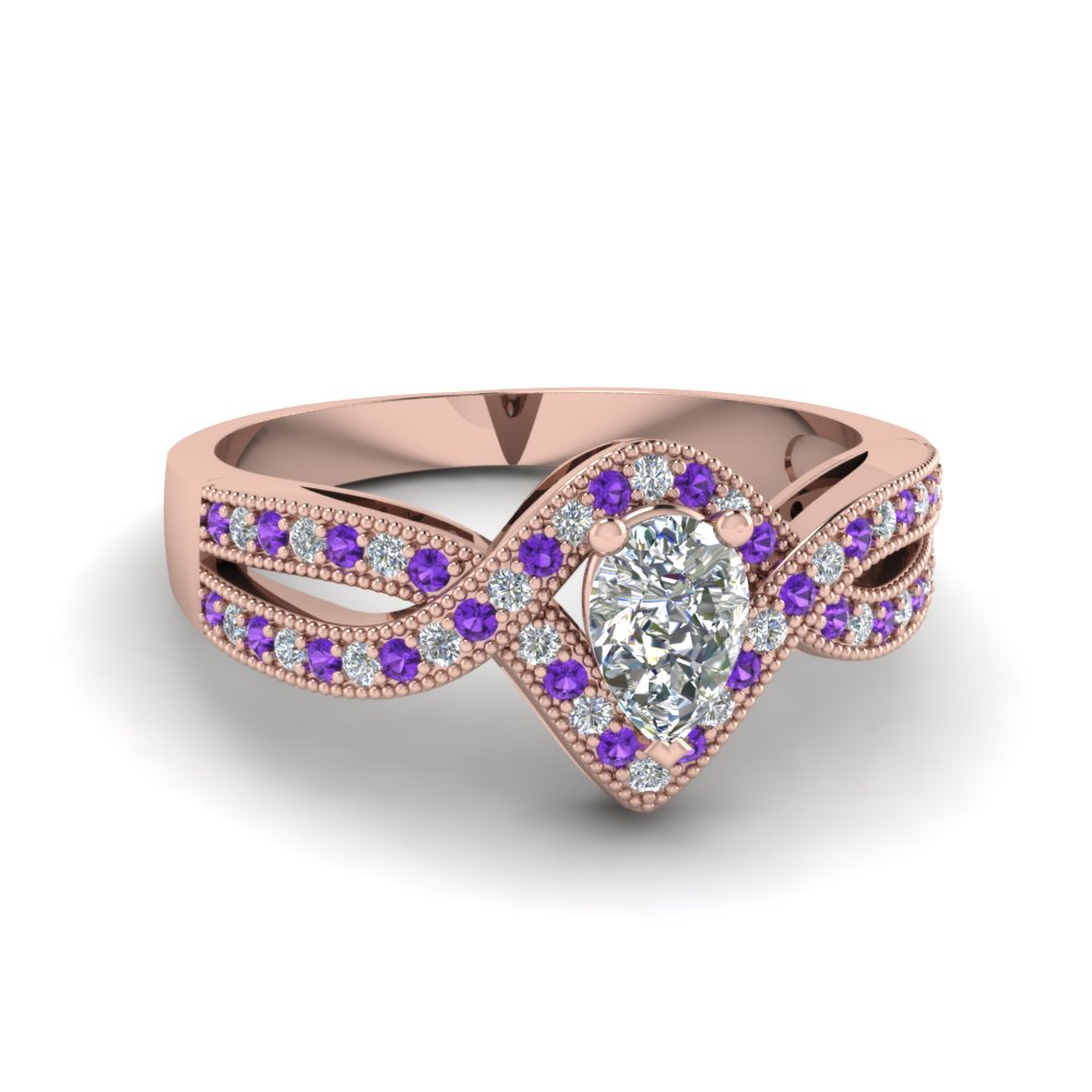 pear shaped vintage twisted diamond engagement ring with violet topaz in FDENR8319PERGVITO NL RG.jpg