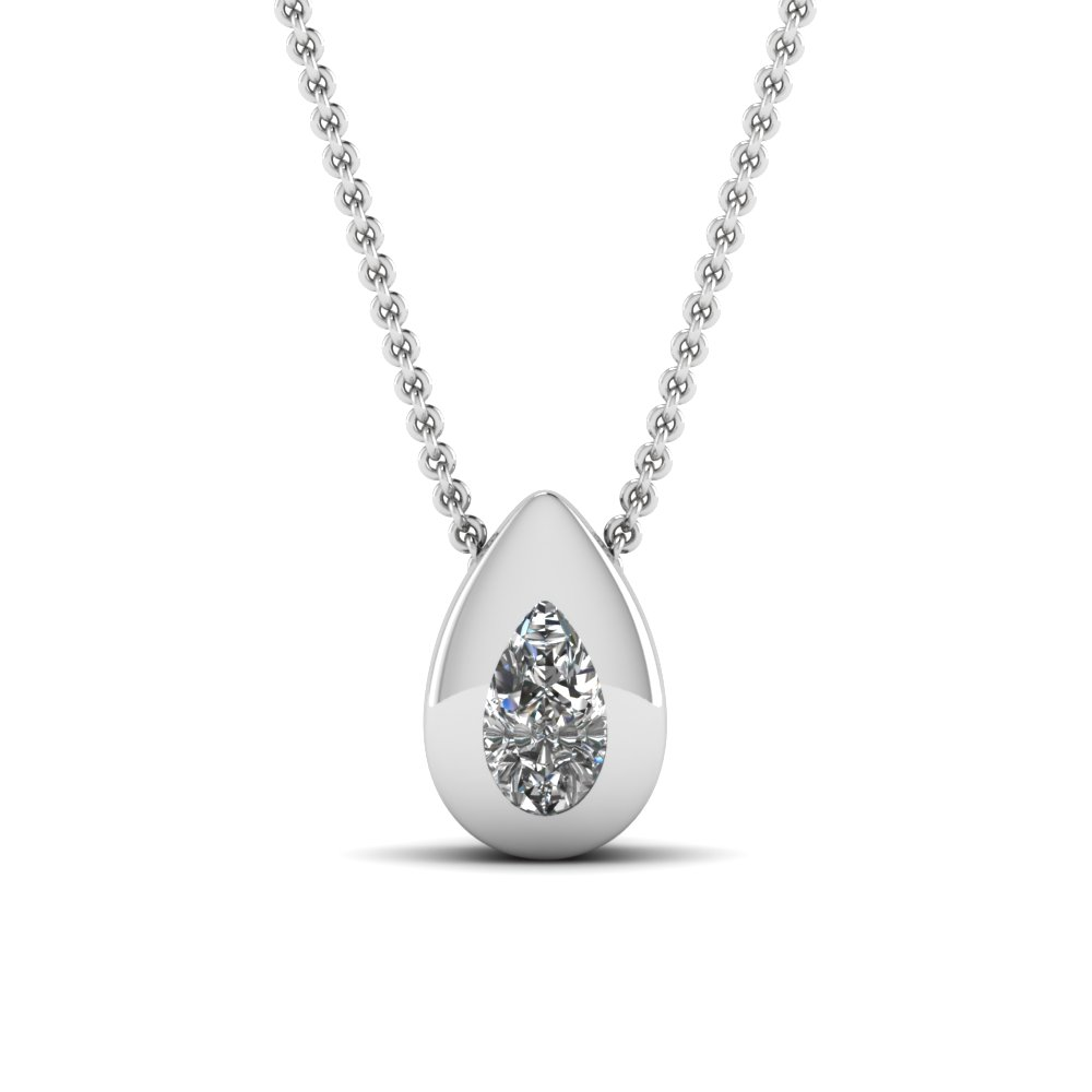 shaped pear gold beers aura white necklace pendant cut diamond de