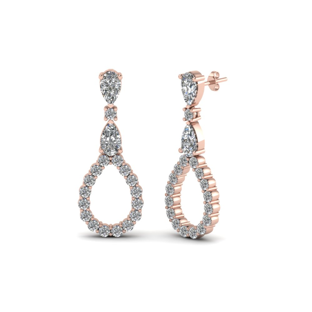 Beautiful Pear Style Drop Earrings