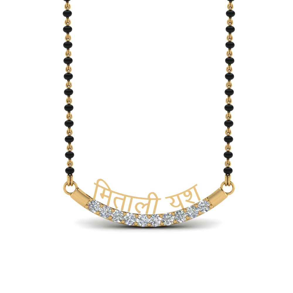 Diamond Personalised Mangalsutra For Her