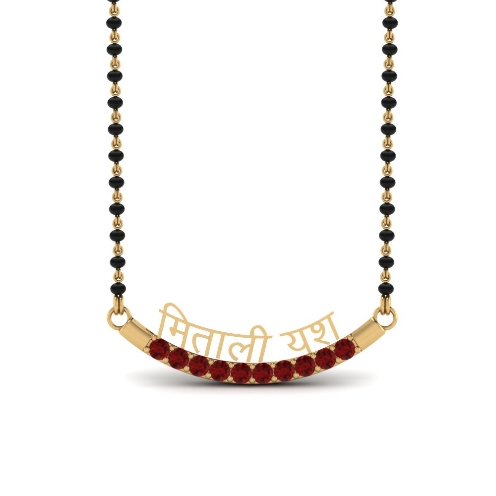 Ruby Mangalsutra With Names