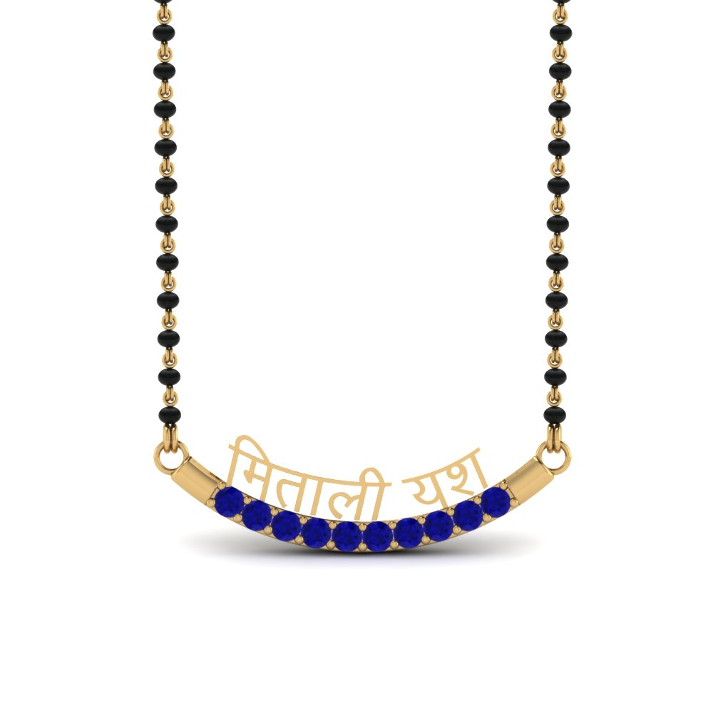 Mangalsutra Personalised Necklace With Sapphire