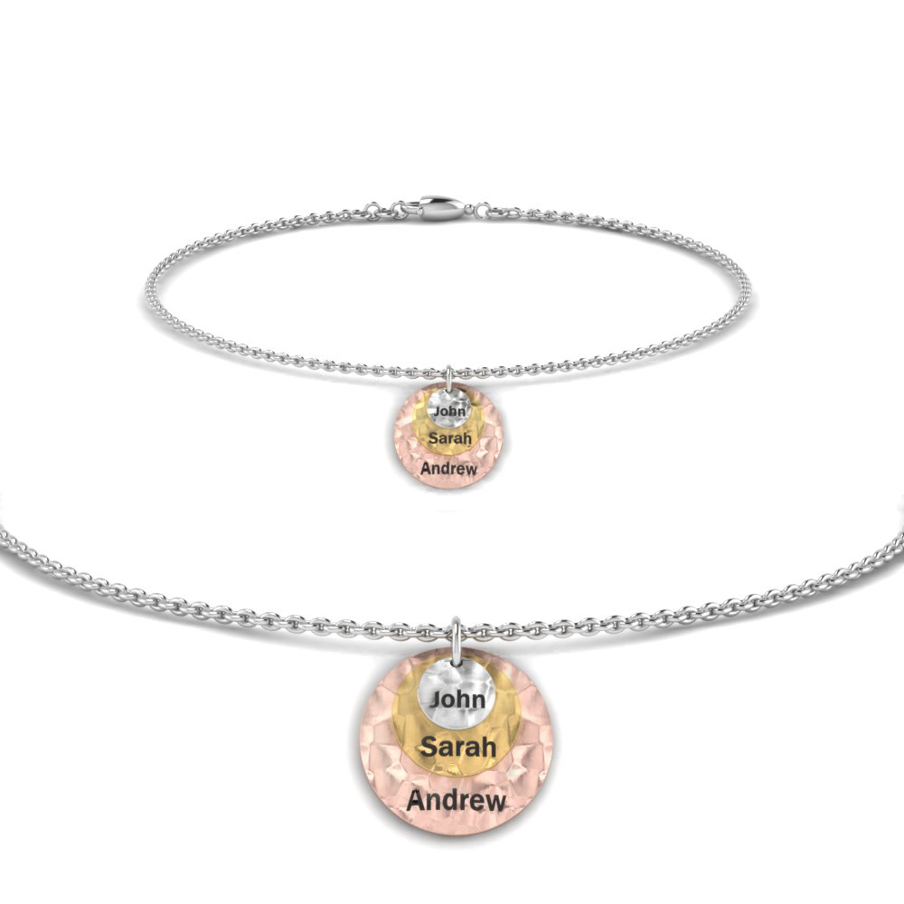 Personalized Charm Bracelet With Name In Fdbrc8696md Nl