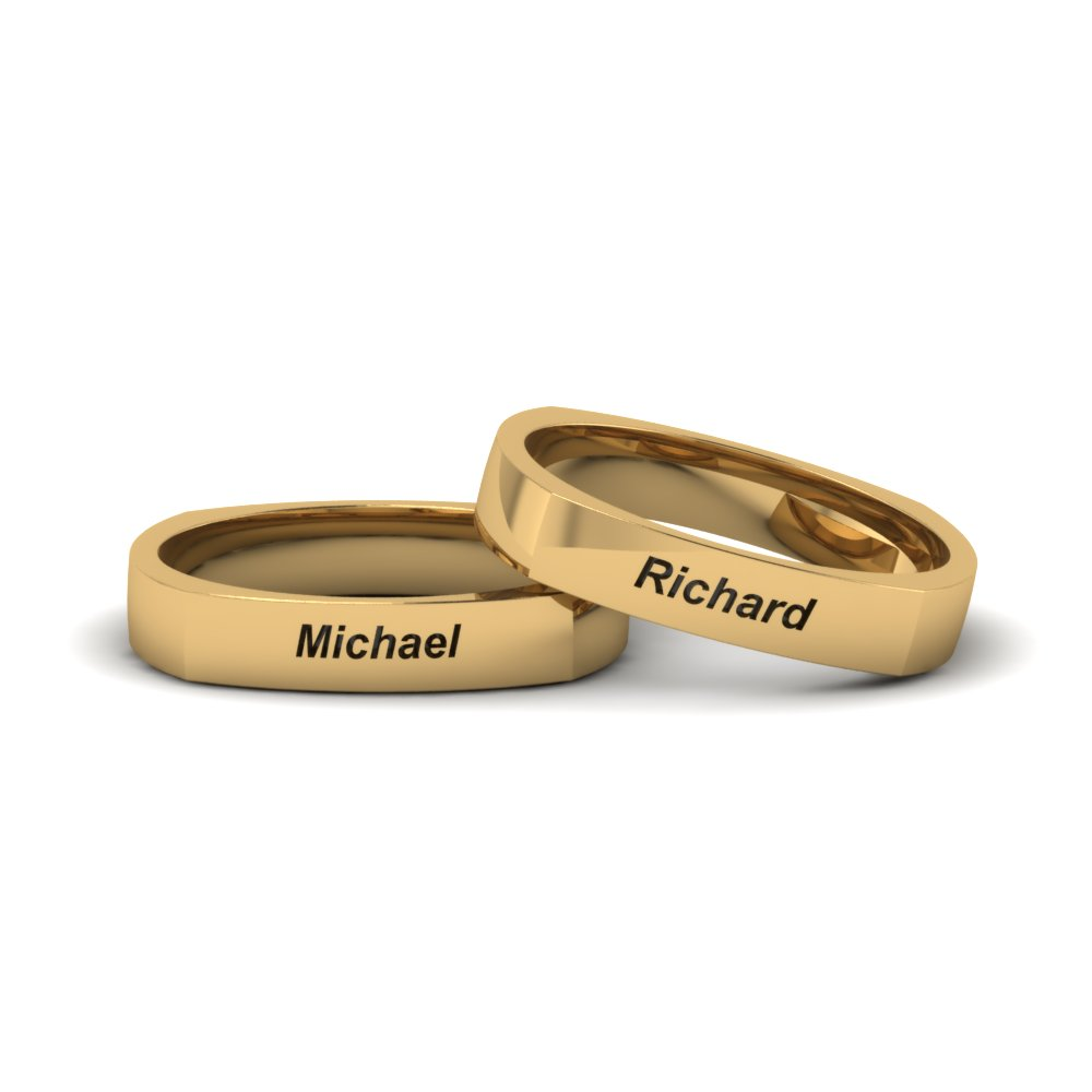rings ring lovely with of wedding engraved contemporary name