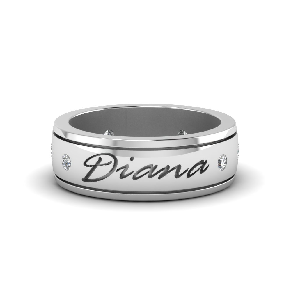 Personalized Mens Diamond Band