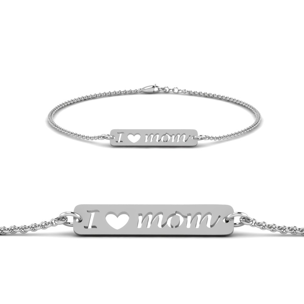 personalized mom bracelet in FDBRC8686MDANGLE1 NL WG