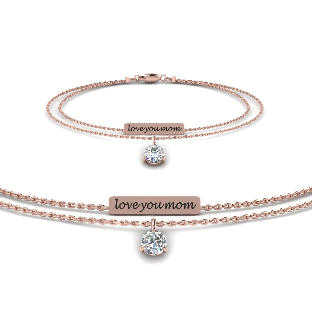 personalized mom diamond bracelet in FDBRC8683MD NL RG