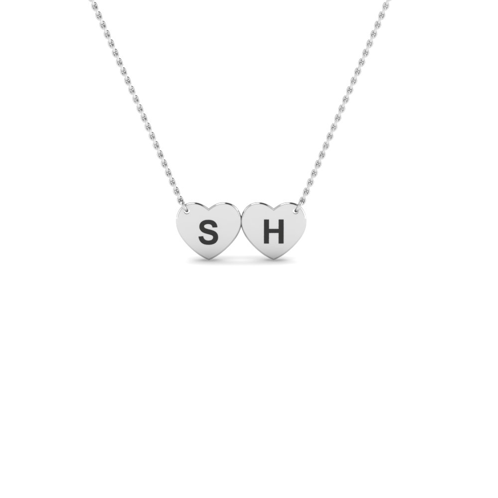 Personalized White Gold Necklace Gifts