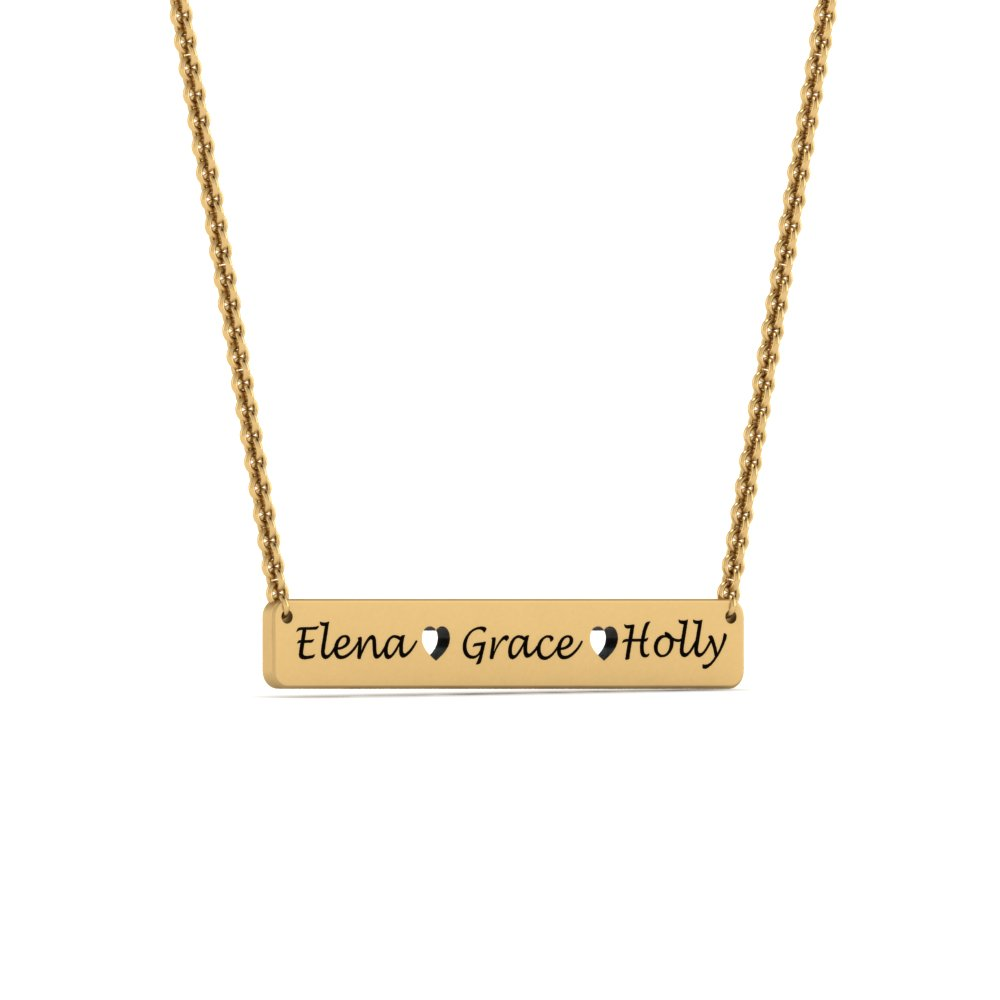 rose name personalized bar pendant filled ori engraved gold silver necklace gift custom sterling her for details