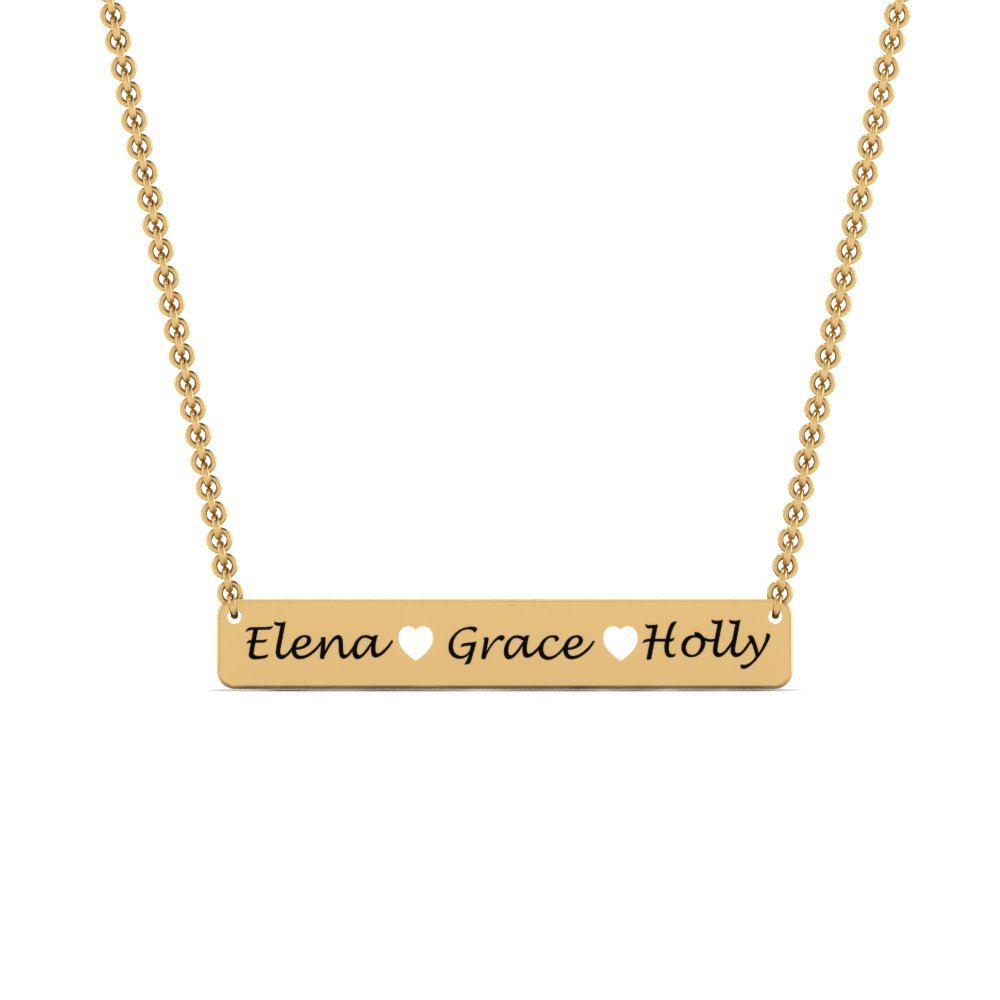 Gold Personalized Pendant For Mom