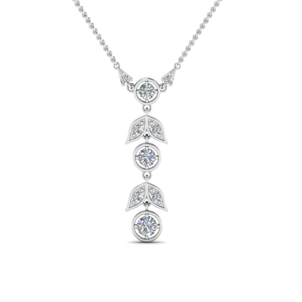 Petal Diamond Drop Necklace