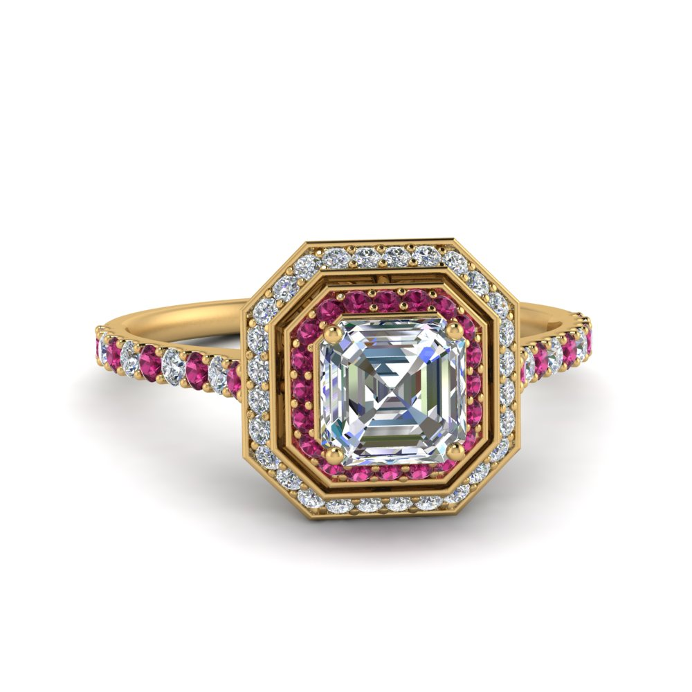 petite-asscher-diamond-engagement-ring-with-pink-sapphire-double-halo-in-FD121992ASRGSADRPI-NL-YG