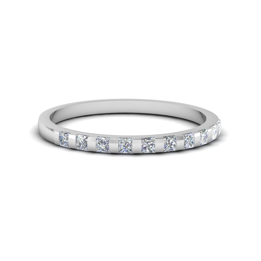 Petite Bar Set Diamond Wedding Band