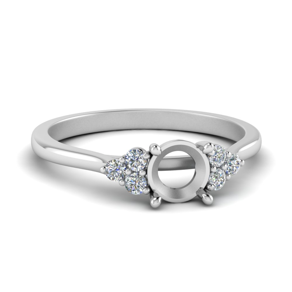 Semi Mount Side Stone Ring
