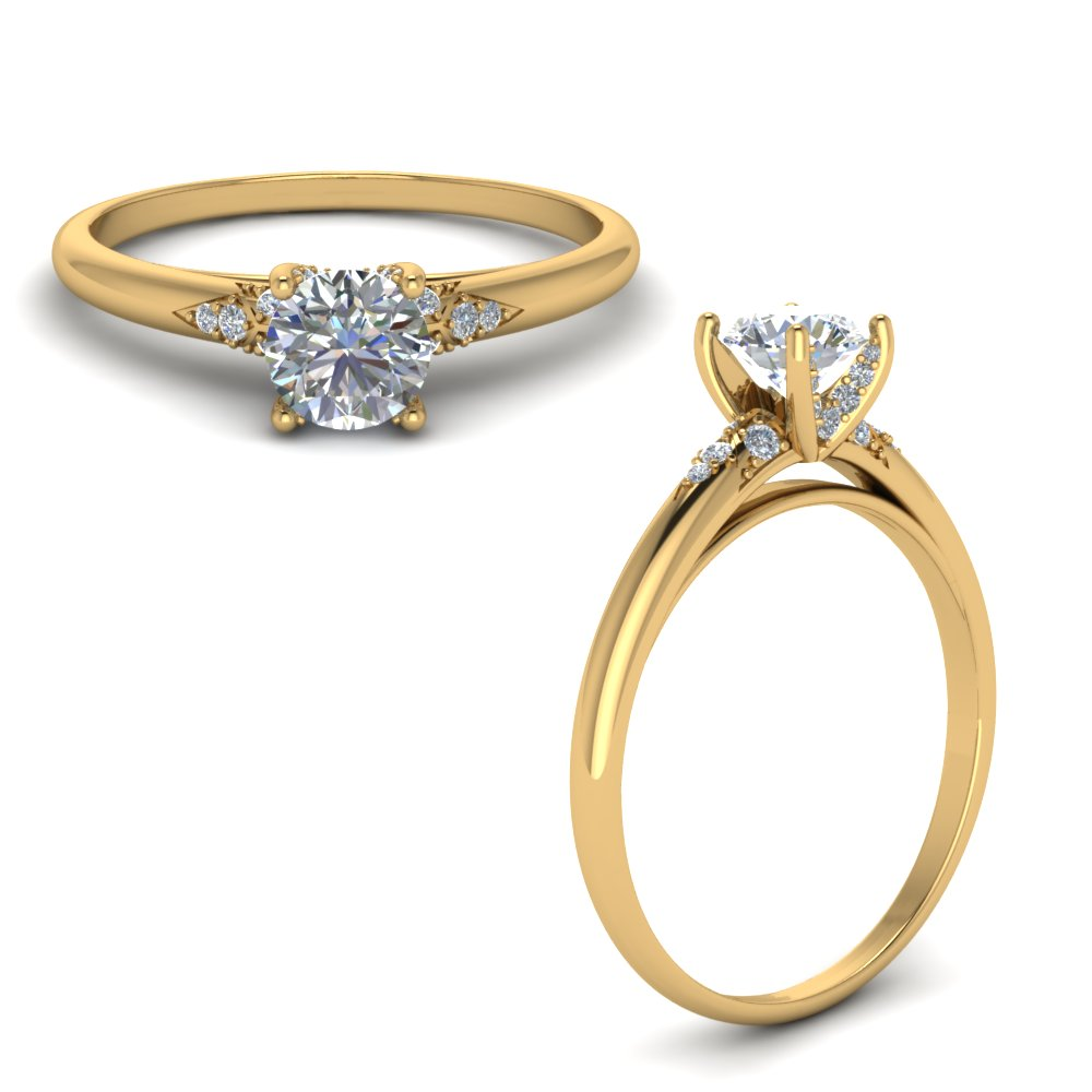 Delicate Dome Engagement Ring