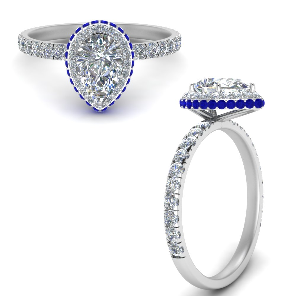 Under Halo Sapphire Ring