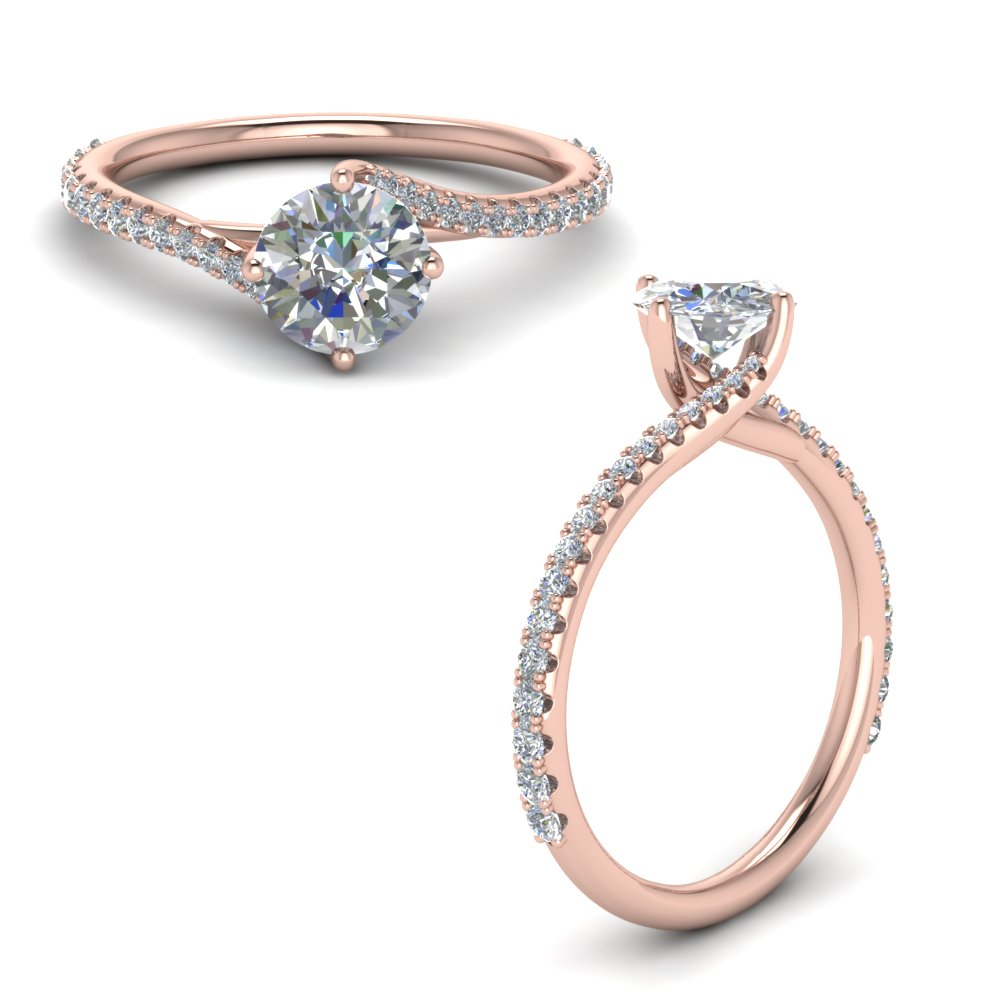Petite Bypass Diamond Ring