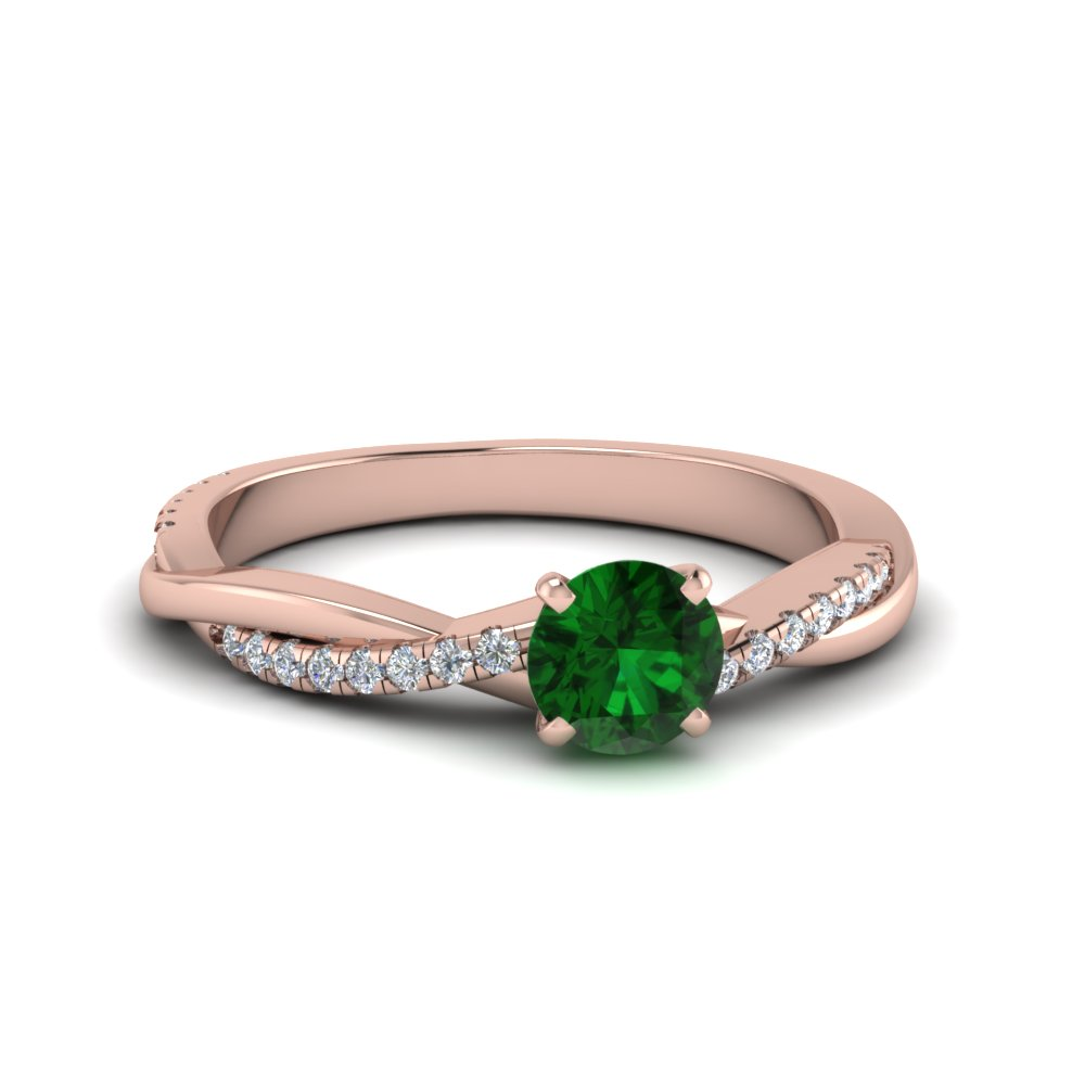Petite Twisted May Birthstone Ring