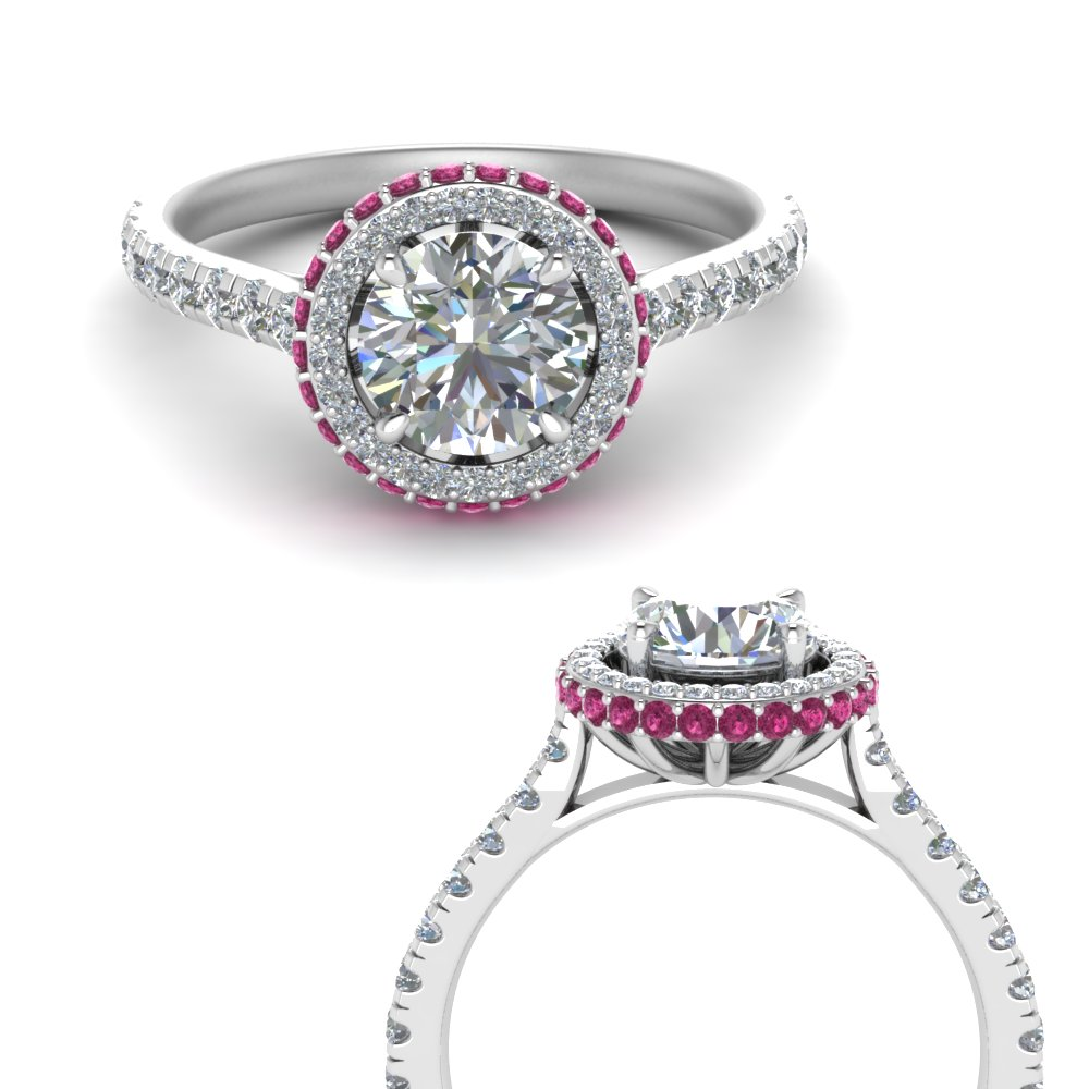 petite-under-halo-moissanite-engagement-ring-with-pink-sapphire-in-FD9114ROGSADRPIANGLE3-NL-WG