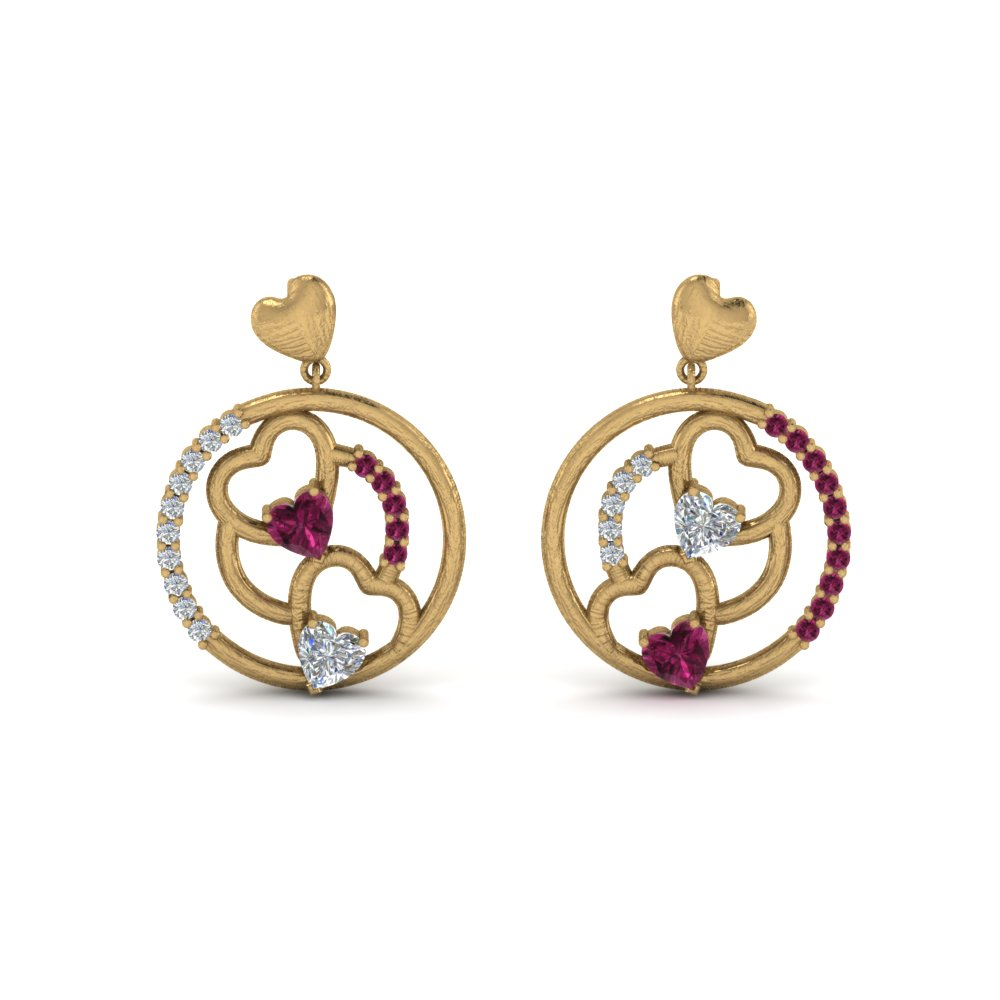 pink-sapphire-heart-stud-drop-small-diamond-earring-in-FDEAR8831GSADRPI-NL-YG
