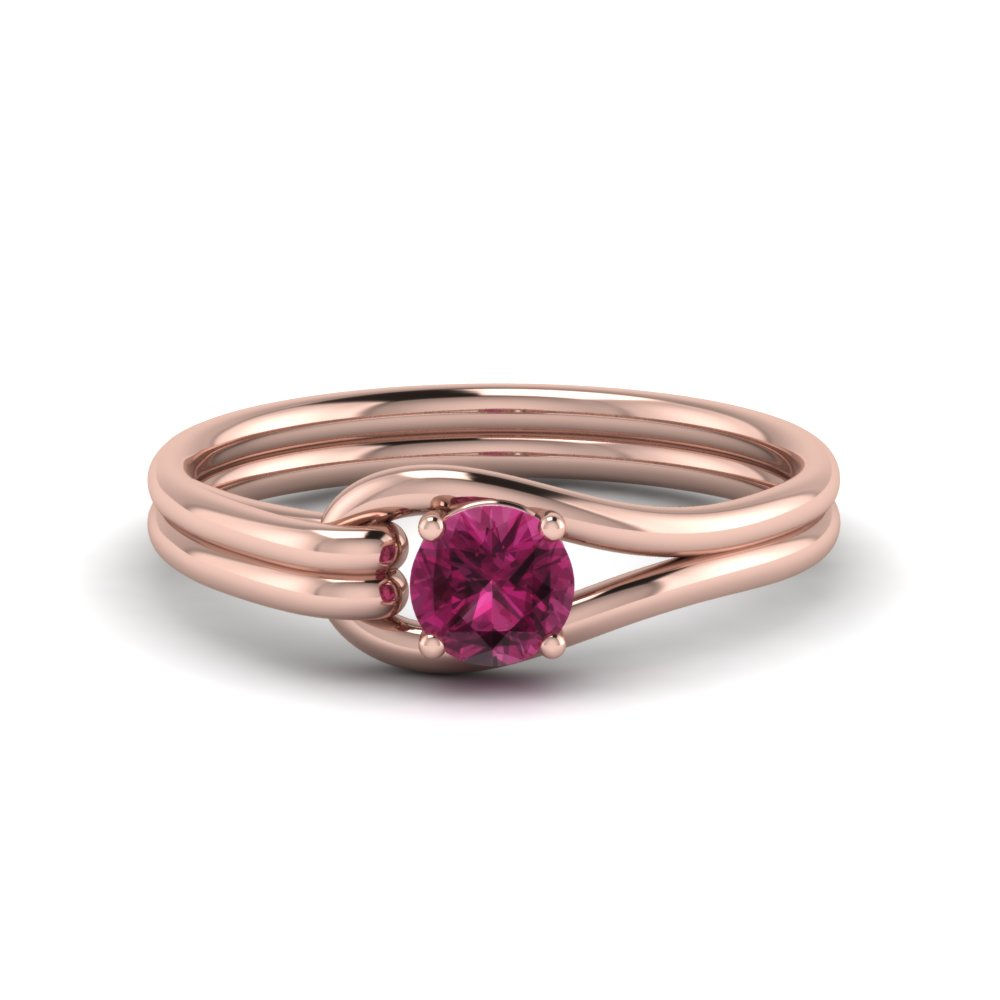 Interlocked Solitaire Ring