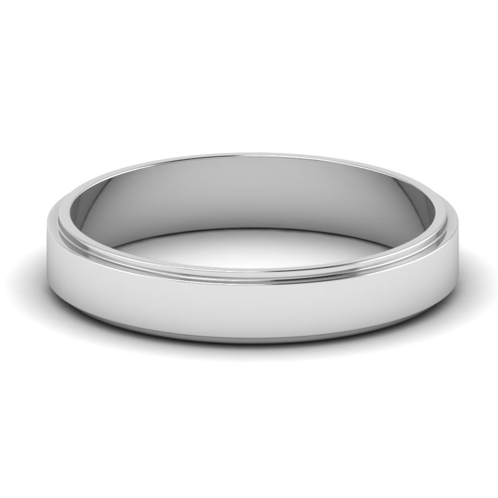 Plain Silver Mens Wedding Band