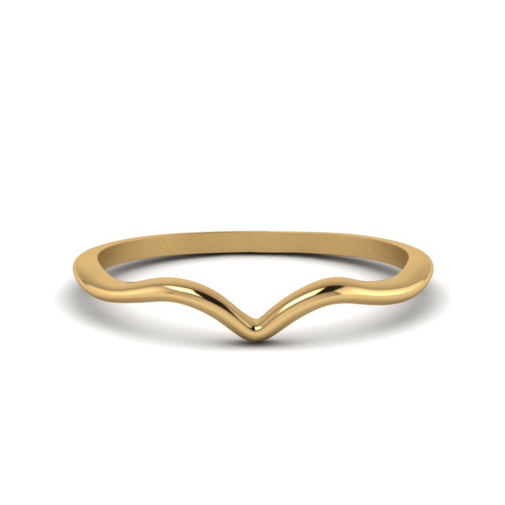 Plain Thin Curved Wedding Band In Fd8300b Nl Yg