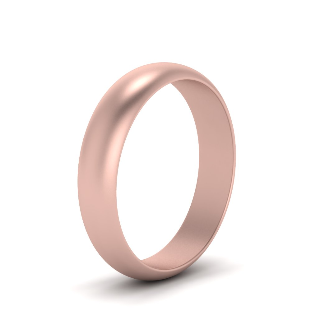 Polished Dome Women Wedding Band 6MM In 18K Rose Gold | Fascinating ...
