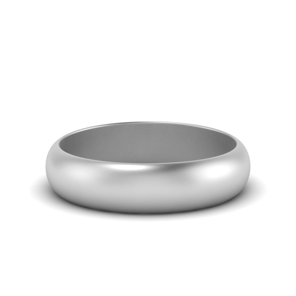 Low Dome 6mm Mens Wedding Band