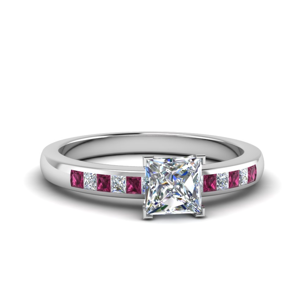 Channel Princess Cut Diamond Ring