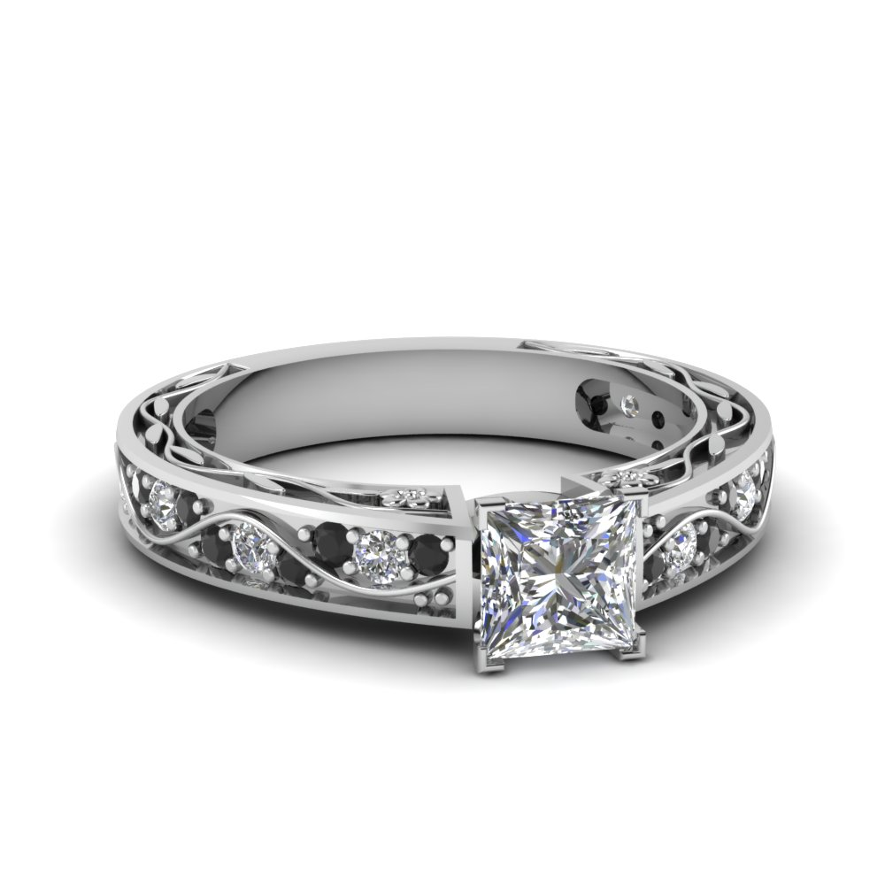 2019 year style- Princess Antique cut engagement rings
