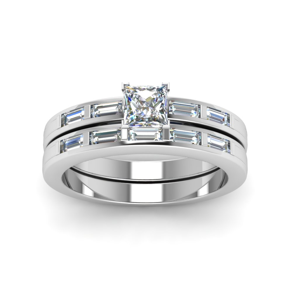 Simple Wedding Ring Set In Fdens218pr Nl Wg Add To Cart