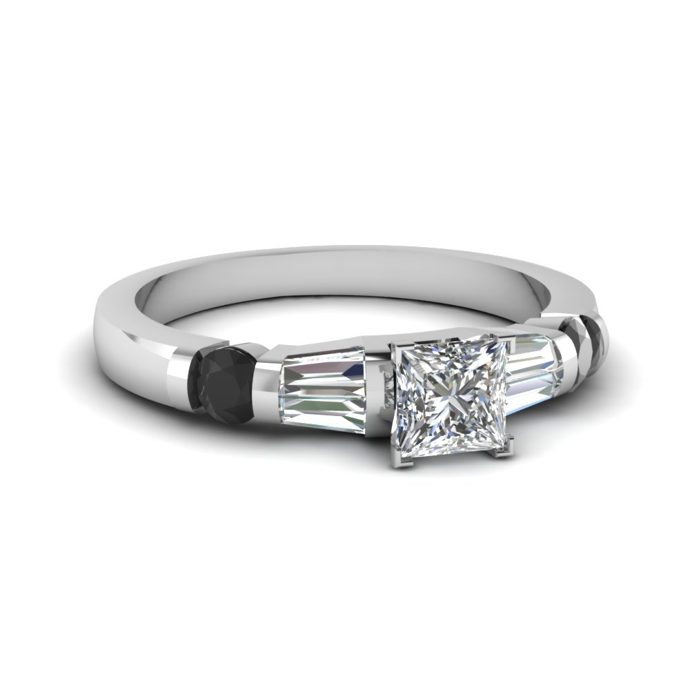 Prong Set Princess Cut Diamond Ring