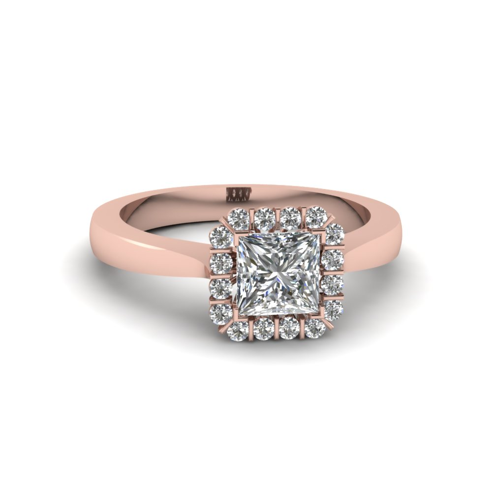 3/4 Karat Princess Cut Engagement Rings