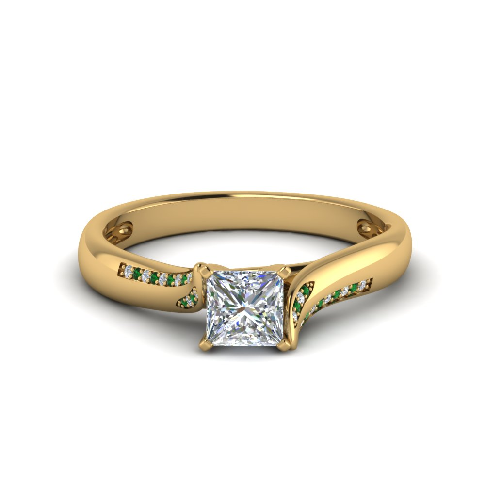 Twisted Princess Cut Ring