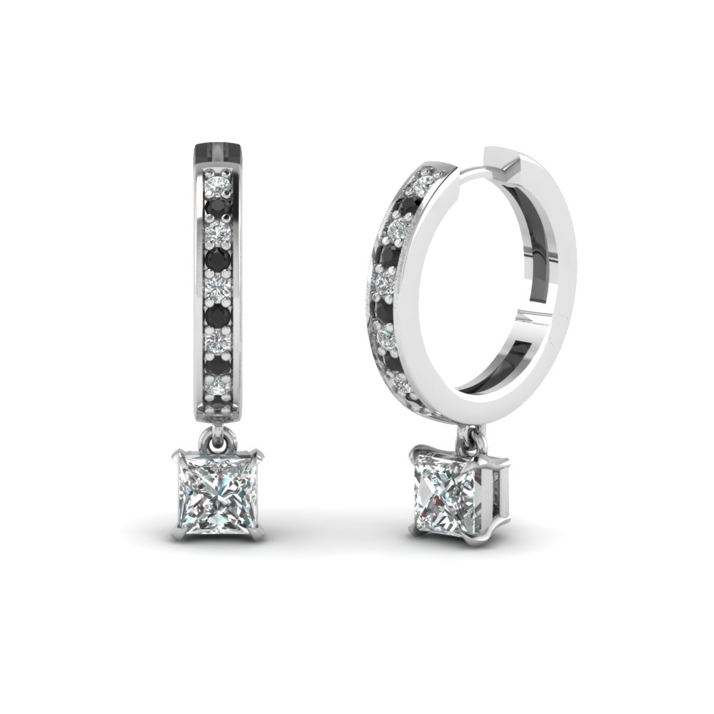 Princess Cut Hoop Earring