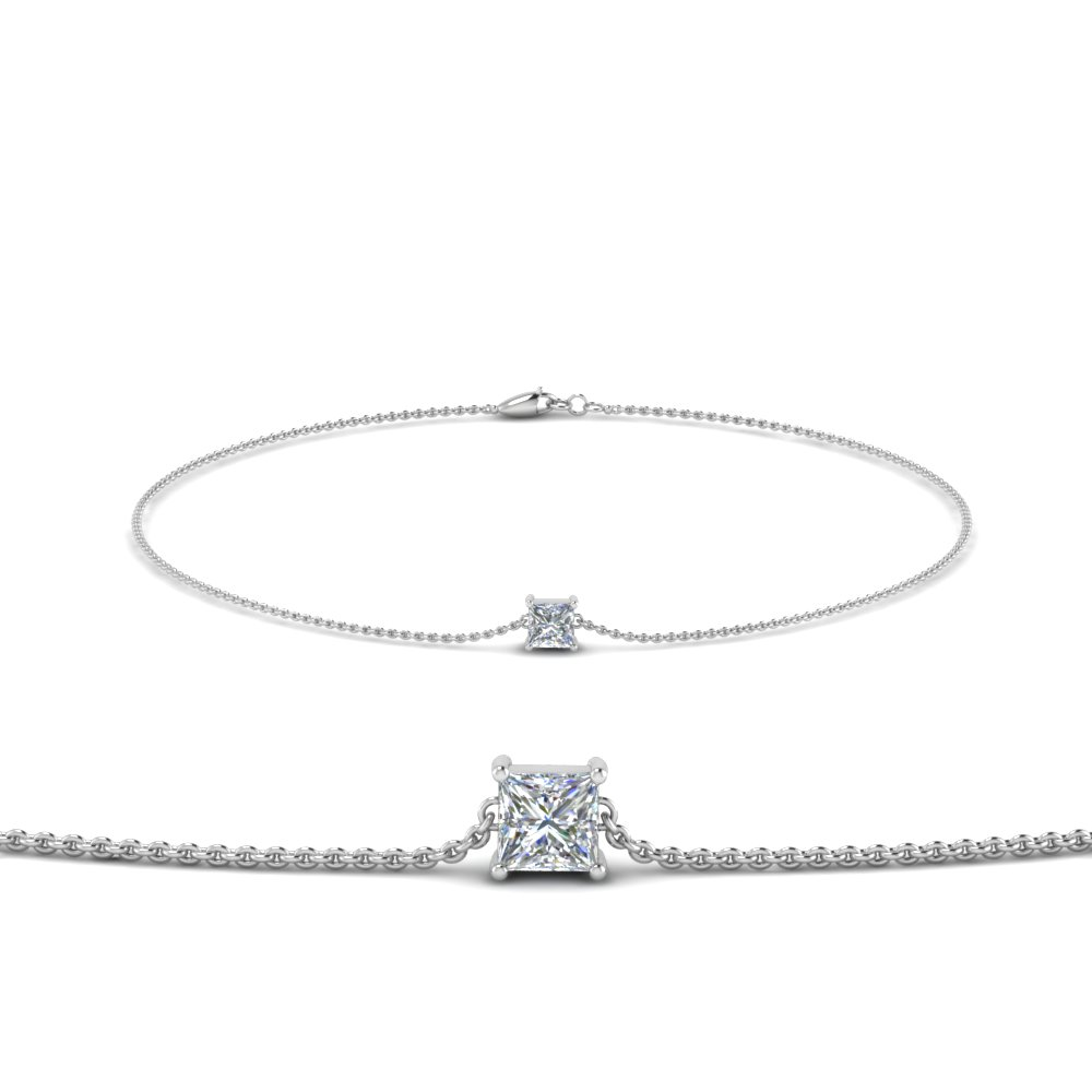 Princess Cut Chain Bracelet
