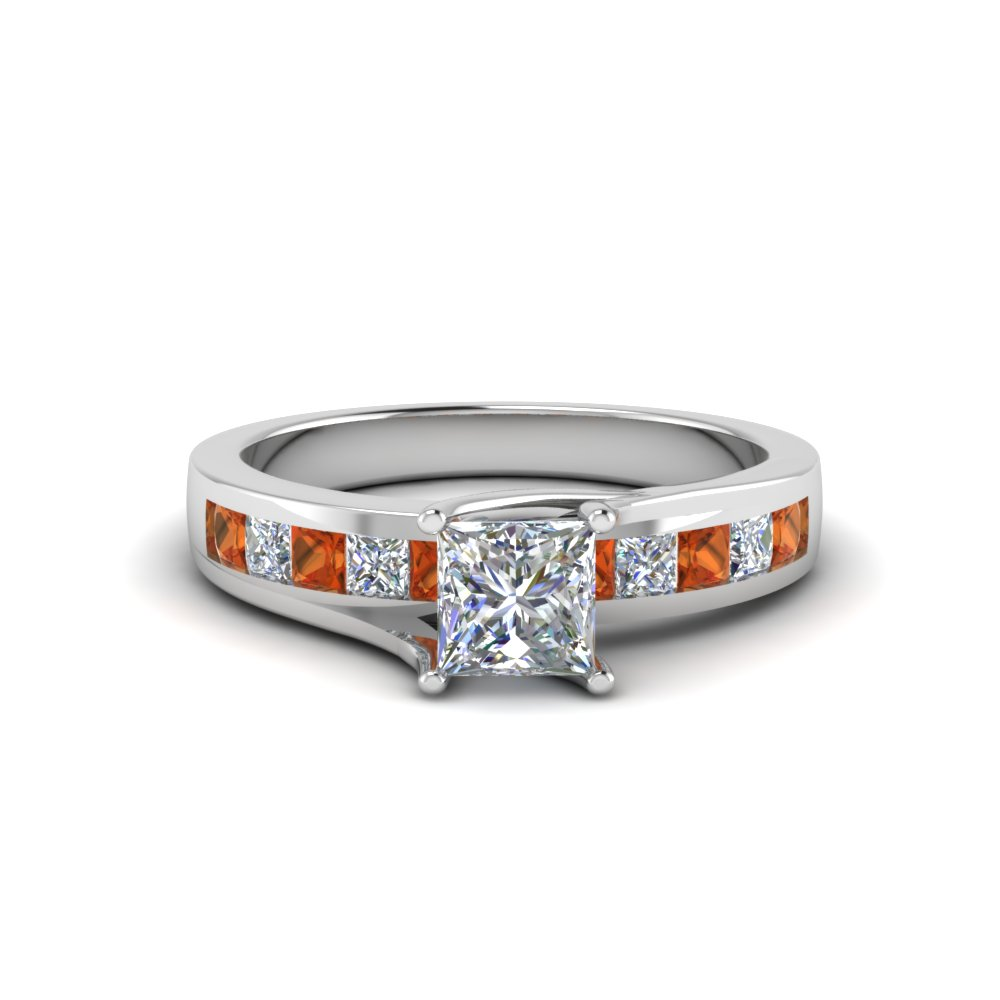 Channel Accent Diamond Ring