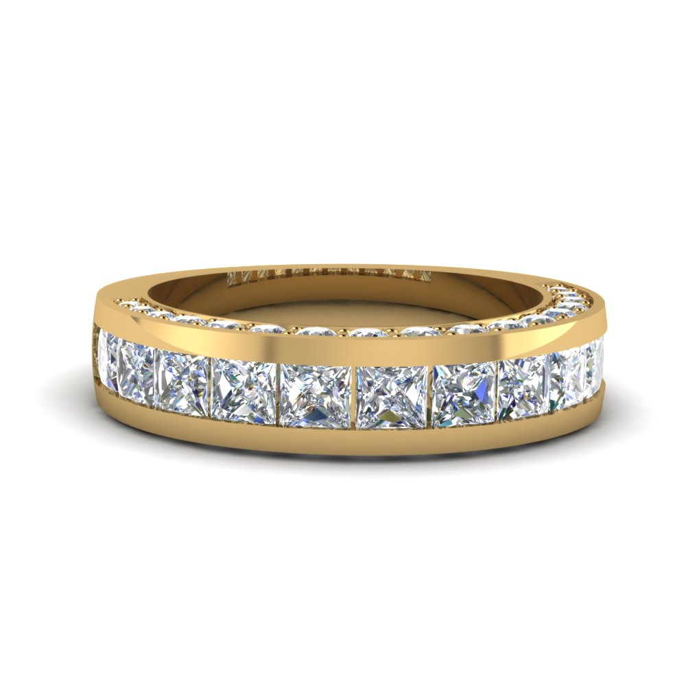 3 Side Diamond Band