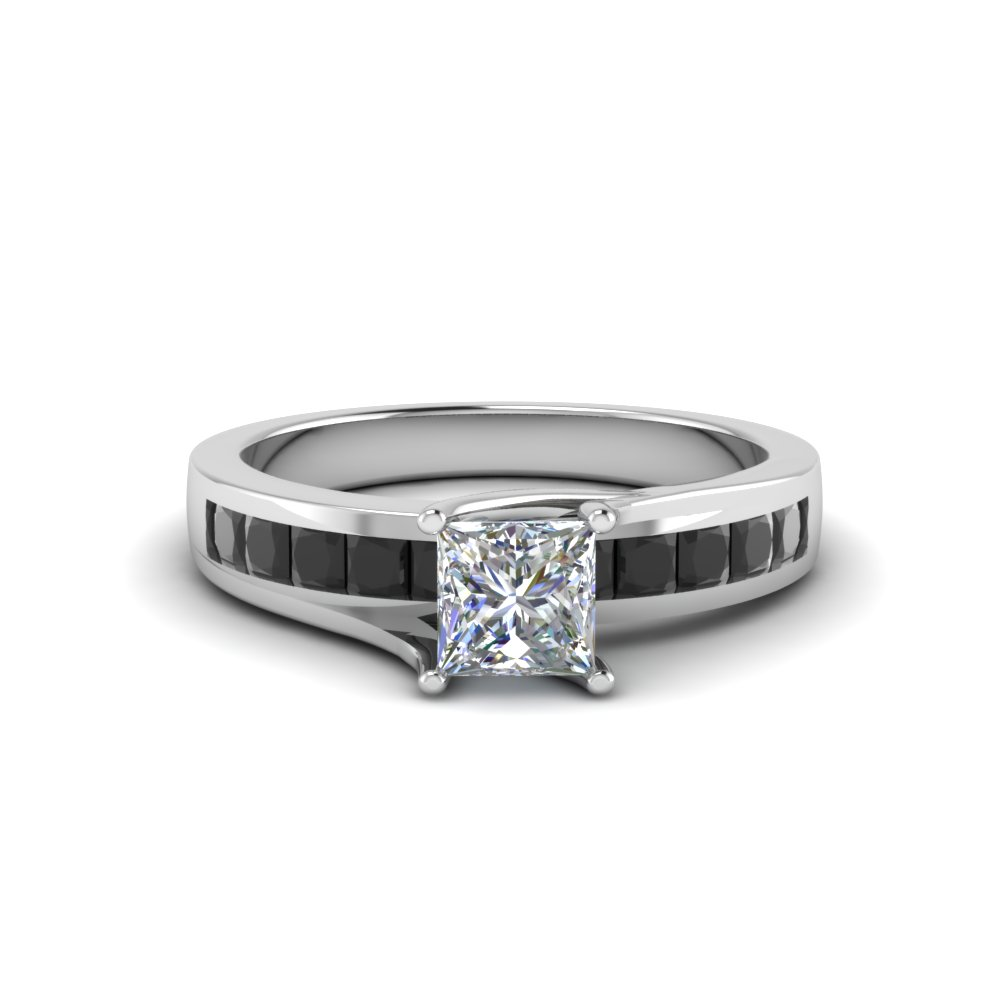 Platinum Black Diamond Engagement Ring