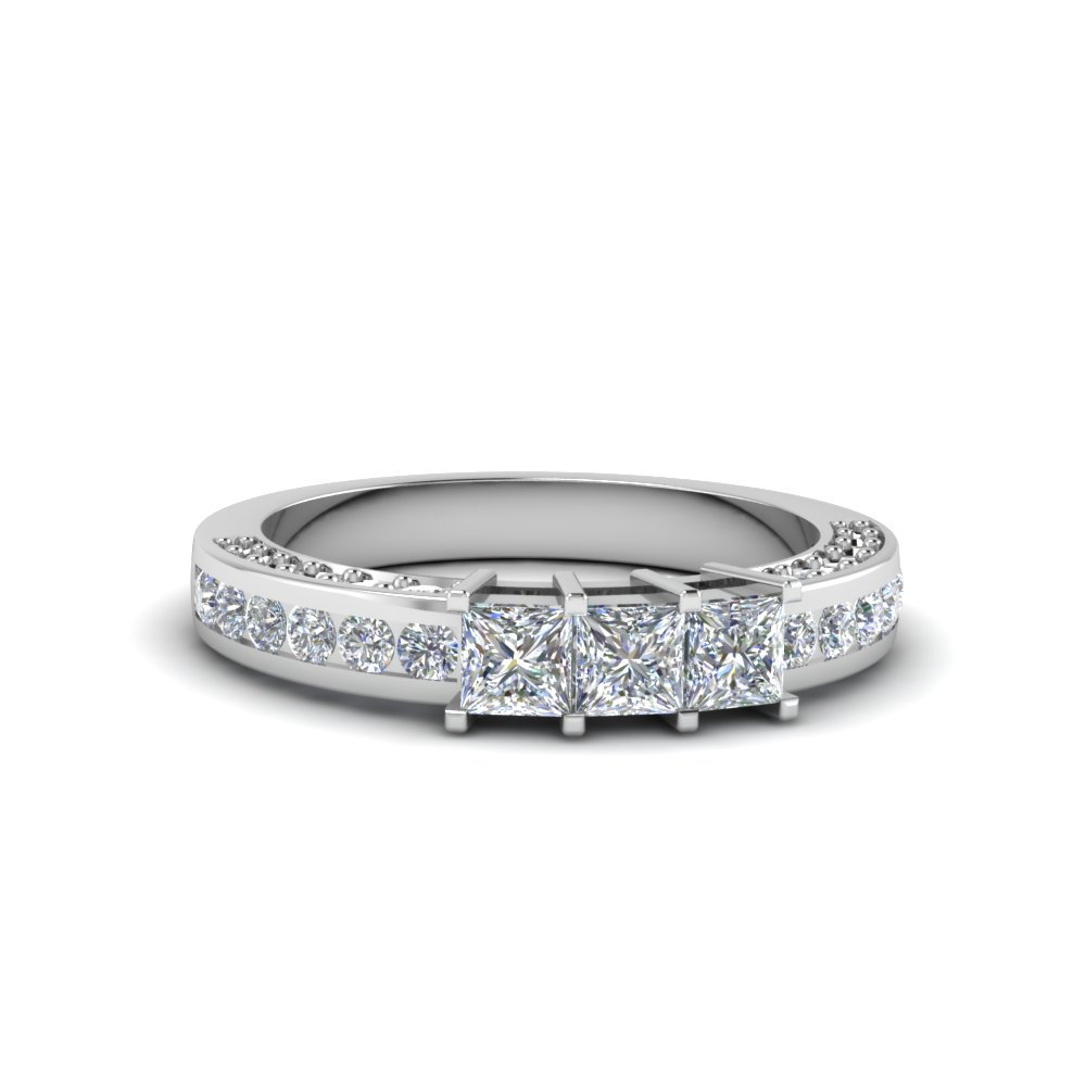 Princess Cut Diamond Band For Her