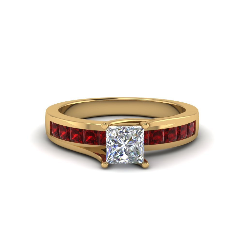 Diamond Alternative Gold Engagement Ring