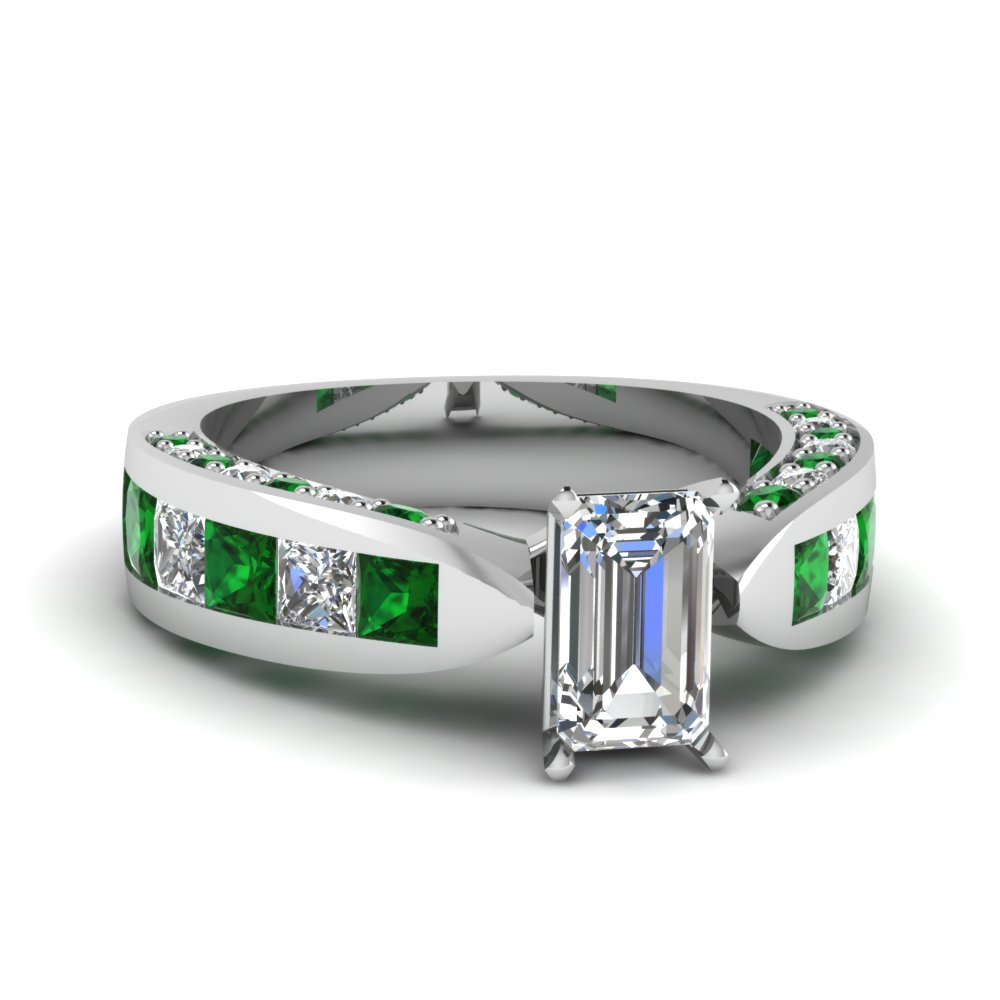 May Birthstone Emerald Wedding Rings | Fascinating Diamonds