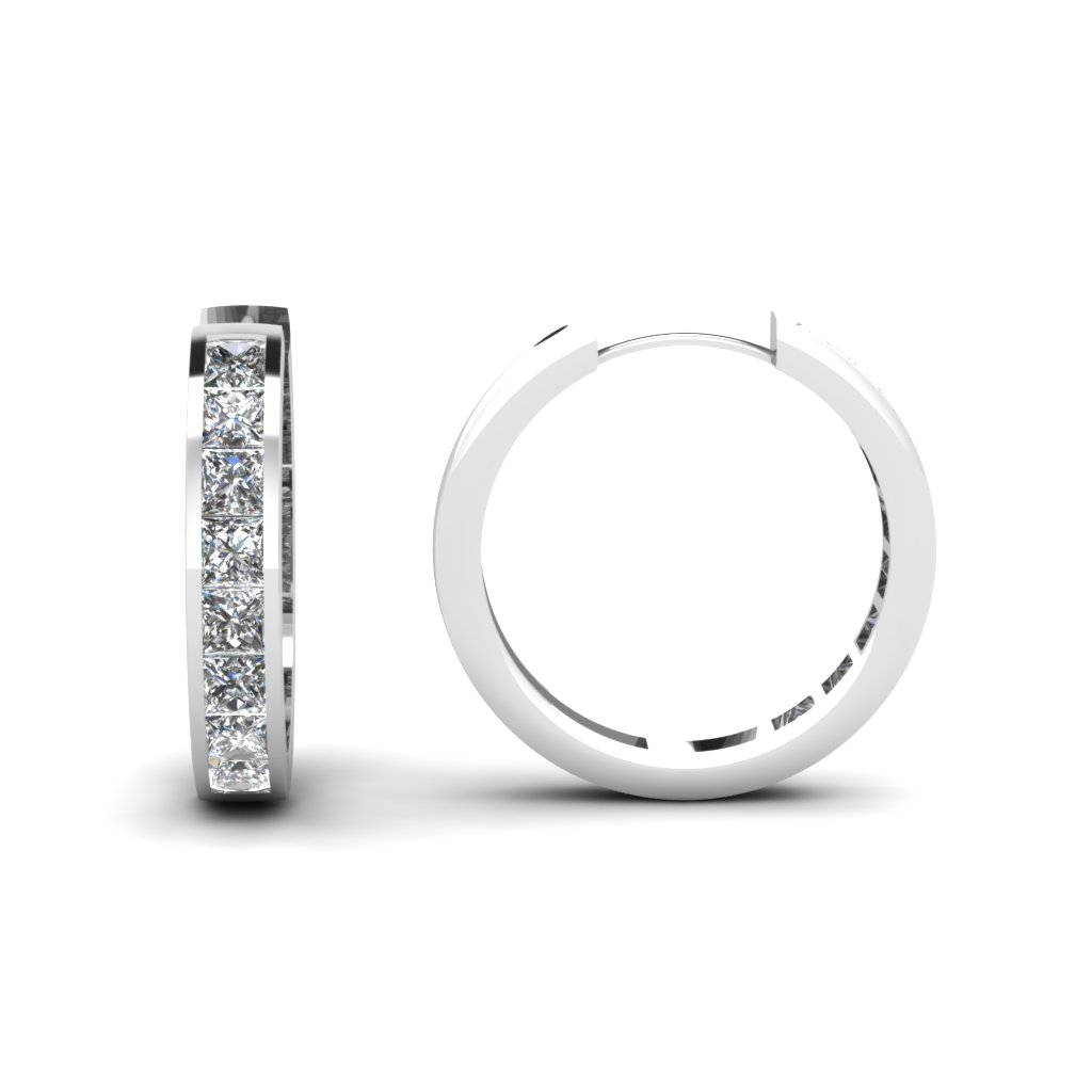 princess-cut-diamond-charismatic-hoops-earrings-in-14K-white-gold-FDEAR1017-NL-WG